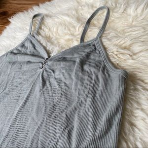 American Eagle Soft and Sexy Ribbed Tank Sage